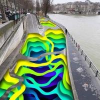 האמן הגרמני 1010 יוצר ציורי פרסקו ברחובות פאריז. מדהים!