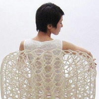 כורסא אלגנטית עשויה מנייר ש